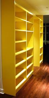 Big bright yellow bookcase