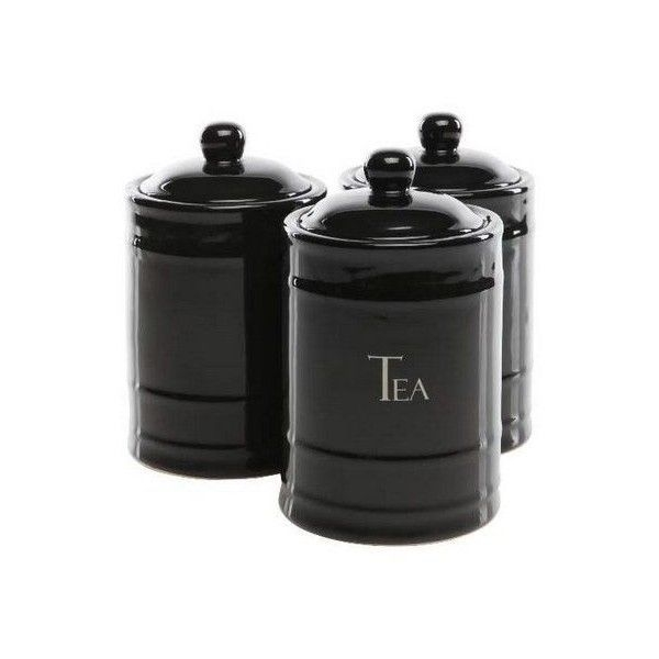 Black Kitchen Cannisters