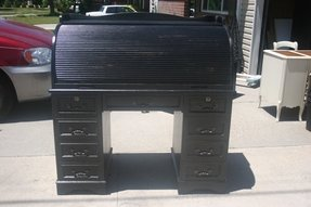 Black roll top desk 28