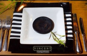 Black square charger plates 21