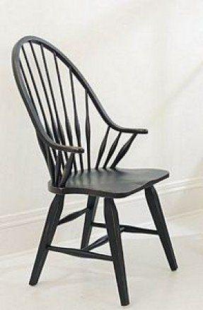 Black Windsor Arm Chair 29