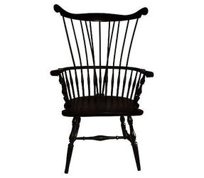 Black windsor arm chair 7