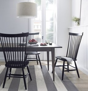 Black Windsor Arm Chair 8