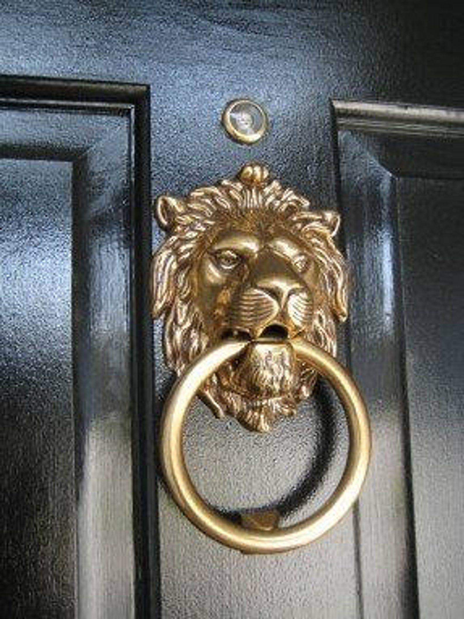Brass lion head door knocker & Brass Lion Head Door Knocker - Foter