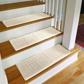 Carpet treads for wood stairs