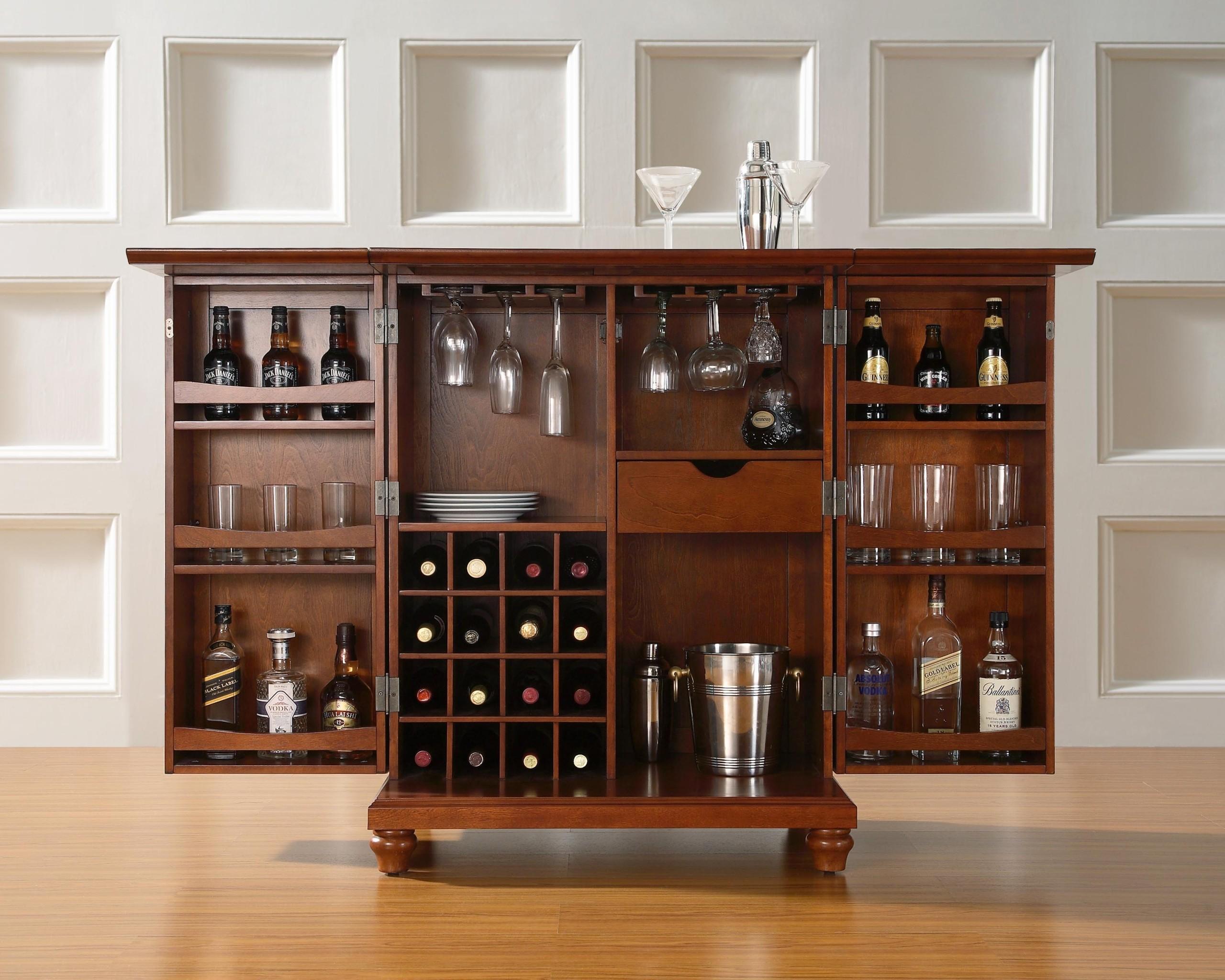 Cherry Liquor Cabinet