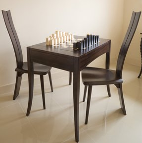 Chess table with chairs 1