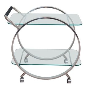 Chrome bar cart 5