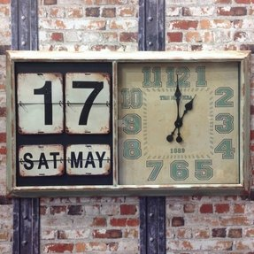Clocks with date and day