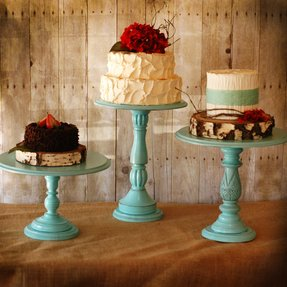 Colorful cake stands 1
