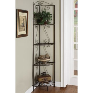 Copper metal corner shelf system 1