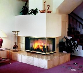 Corner electric fireplace insert 12