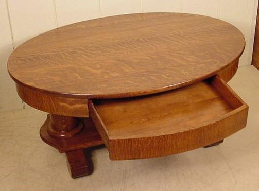Cream And Oak Coffee Table