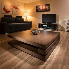 Dark Wood Square Coffee Table 9