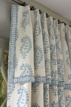 Drapes with attached valance 1