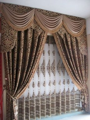 Drapes with attached valance 16