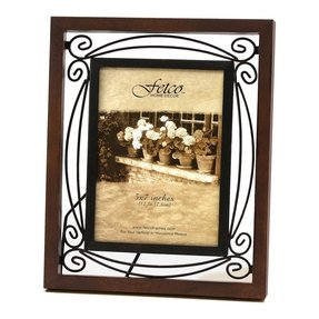 Tuscan Picture Frame With A Dark Oak Wooden Wrought Iron Elements Inside Which Give This One Very Unique Of Kind Earance That Is