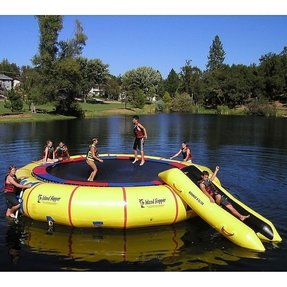 Inflatable Lake Slide Foter