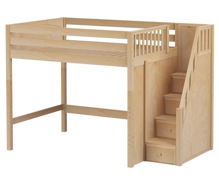 Exceptionnel Full Size Loft Bed With Stairs 2