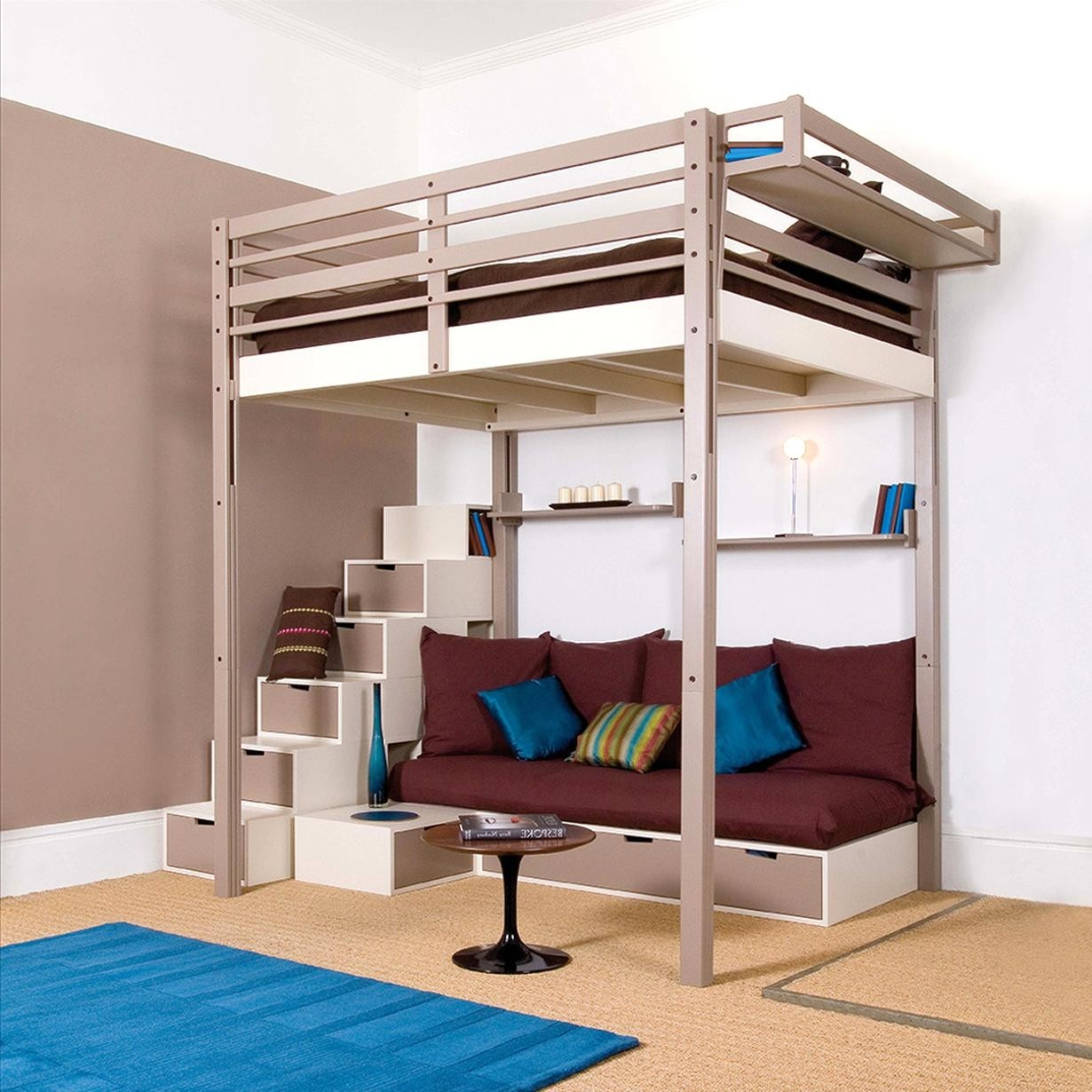 Beau Full Size Loft Bed With Stairs 4