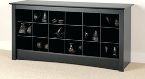 Furniture accent furniture benches 4824 shoe storage cubby bench