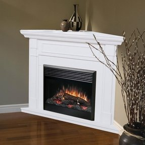 Gas corner fireplace 10