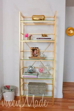Gold bookcases 1