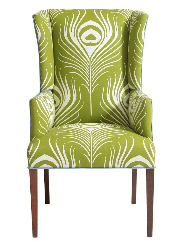 High Quality Green Wingback Chair 4