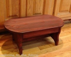 Heavy duty step stool oval solid wood kitchen bed foot