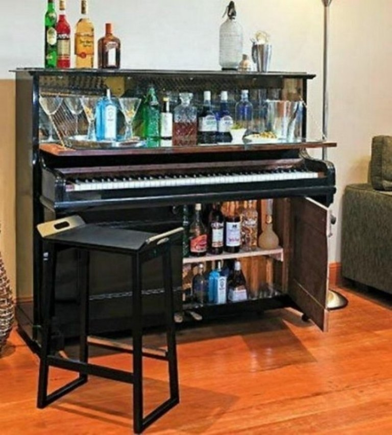 Nice Hidden Home Bar Ideas