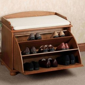 Home auston shoe storage bench