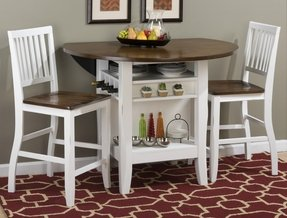 Inspirational White Bar Height Dining Set