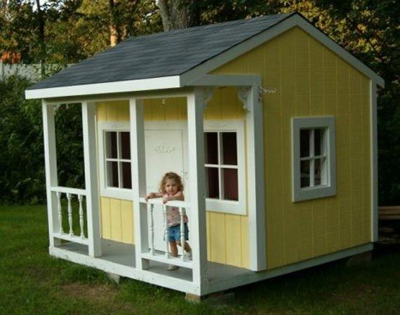 Merveilleux Kids Outdoor Playhouse Plans