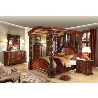 Four post king size bedroom sets ideas on foter - Four poster bedroom sets for sale ...
