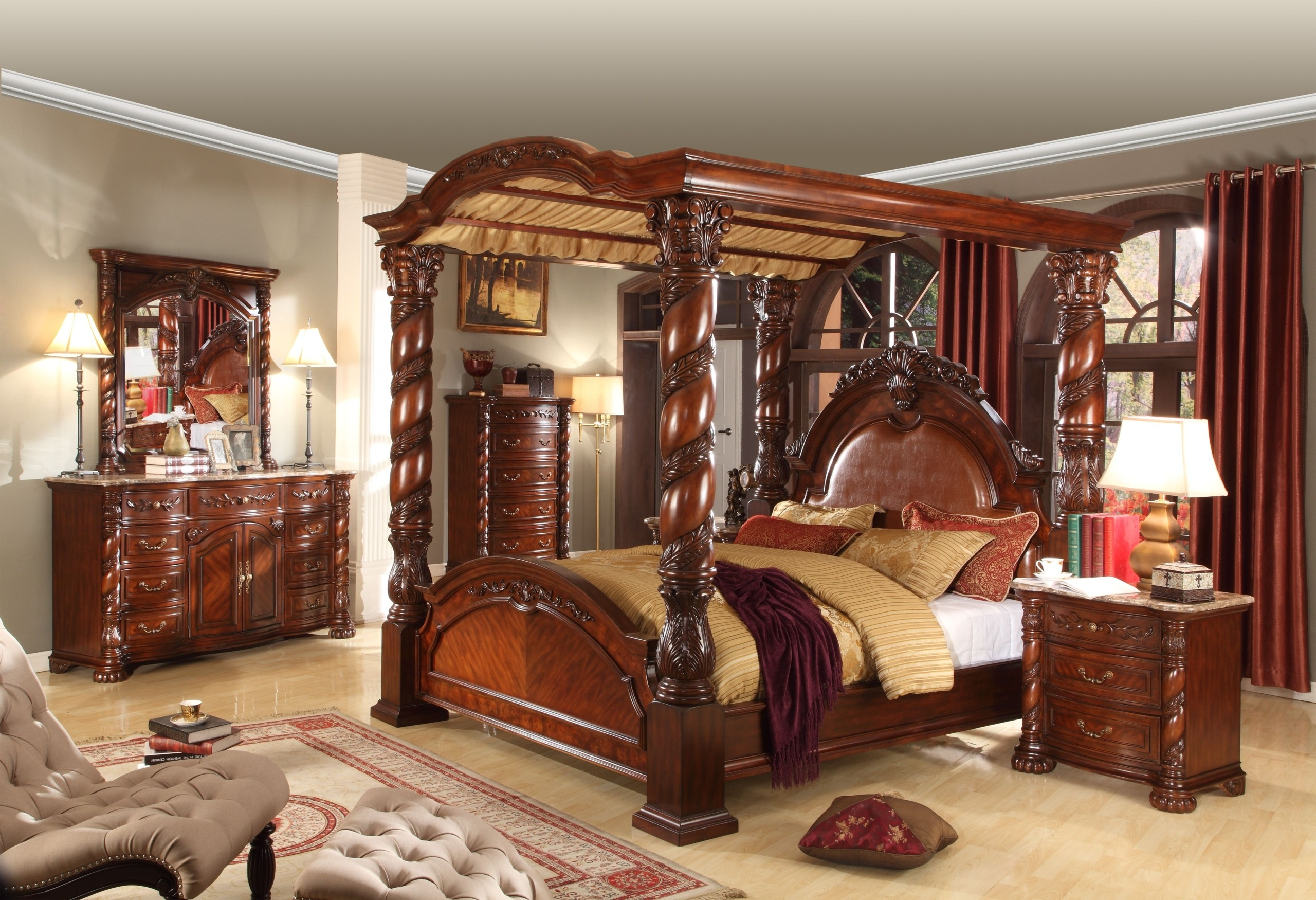 King Poster Bedroom Sets 1