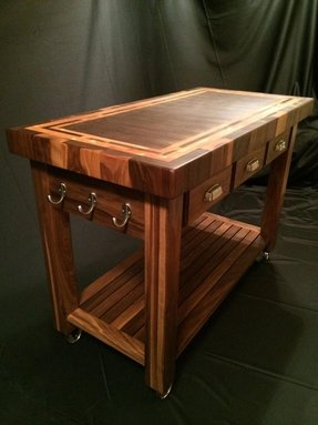 Kitchen cart cutting board