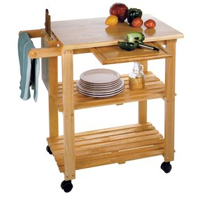 Kitchen cart with cutting board 2