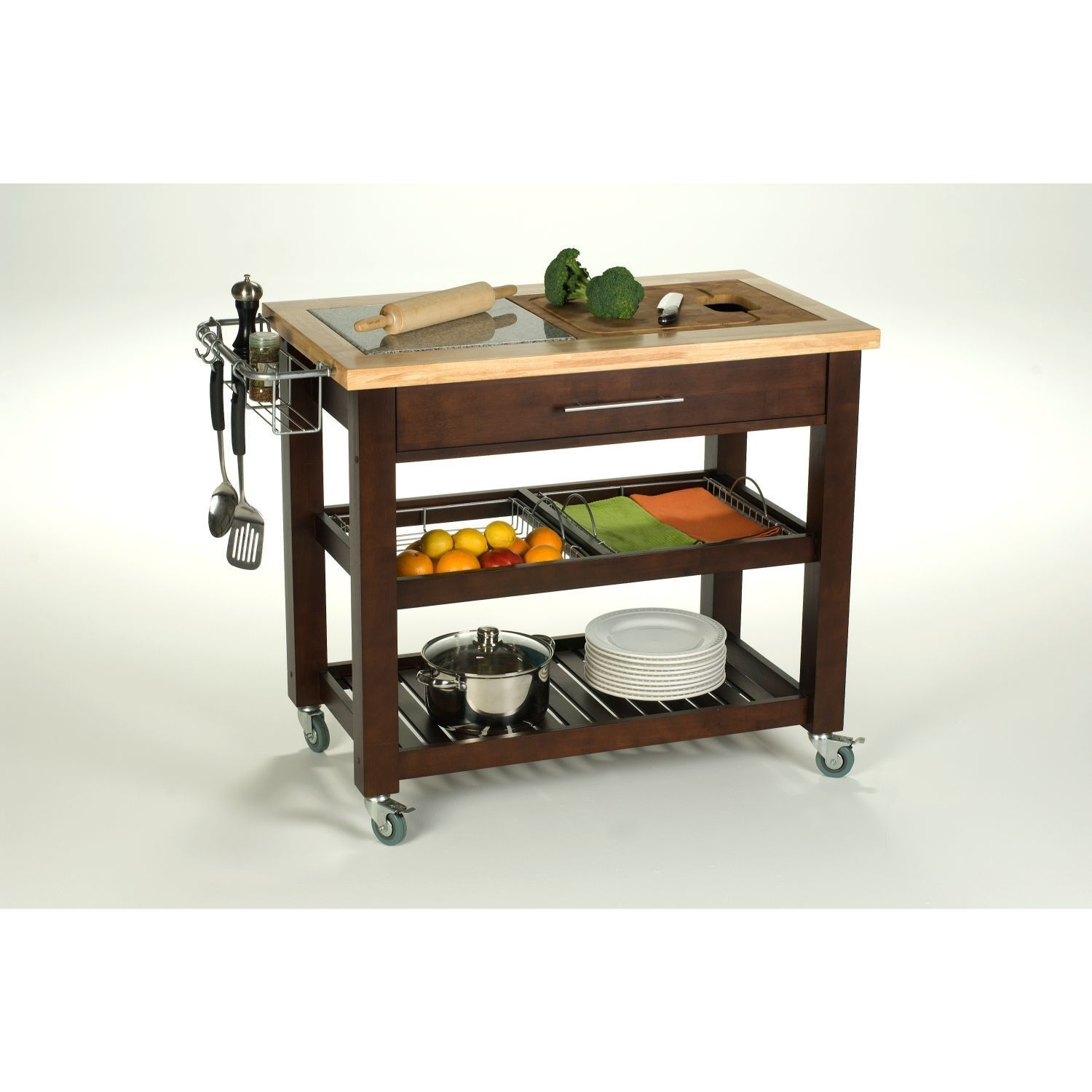 Superbe Kitchen Cart With Cutting Board 26