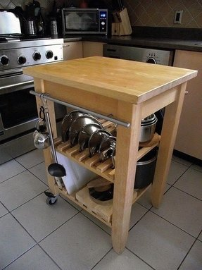 Kitchen cart with cutting board 5