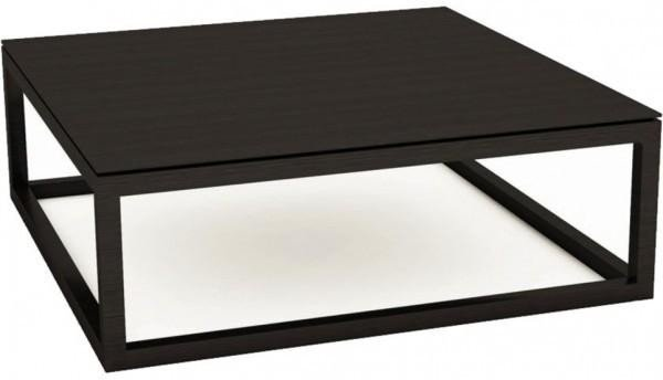 Attrayant Large Square Dark Wood Coffee Table