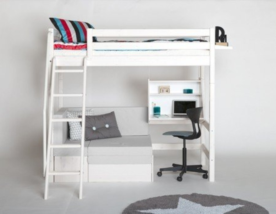 futon bunk bed with desk foter rh foter com loft bed with desk and couch bunk beds with desk and stairs and couch