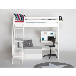 bunk bed with desk and couch. Loft Bed With Couch And Desk Bunk S