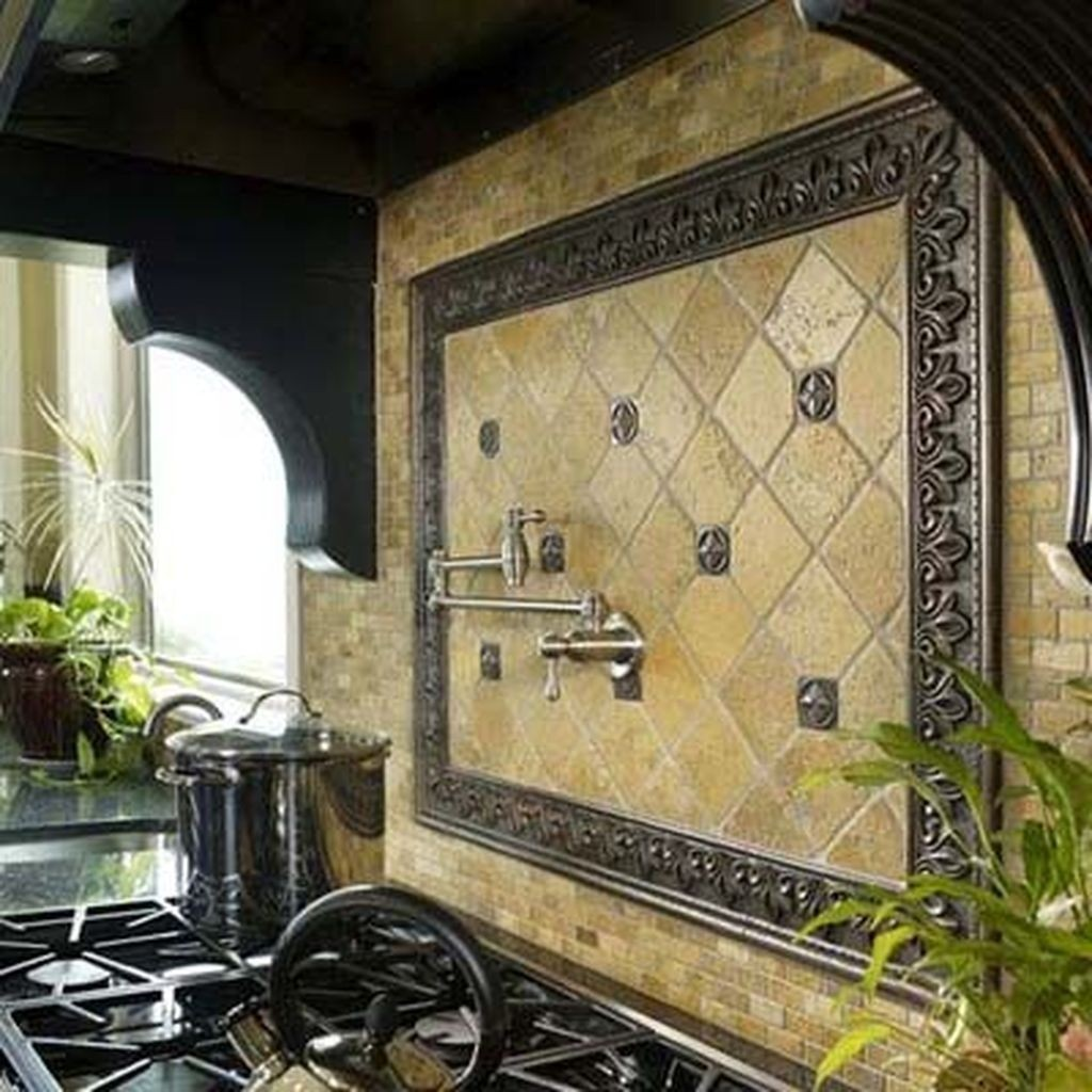 Metal Medallion Backsplash