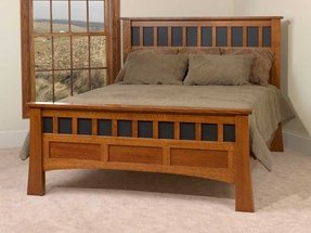 Craftsman style headboard foter for Arts and crafts bed plans