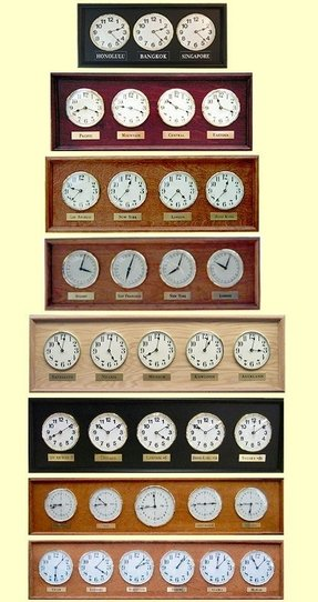 Time Zone Wall Clocks - Ideas on Foter