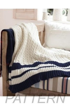 Nautical blanket knitting pattern