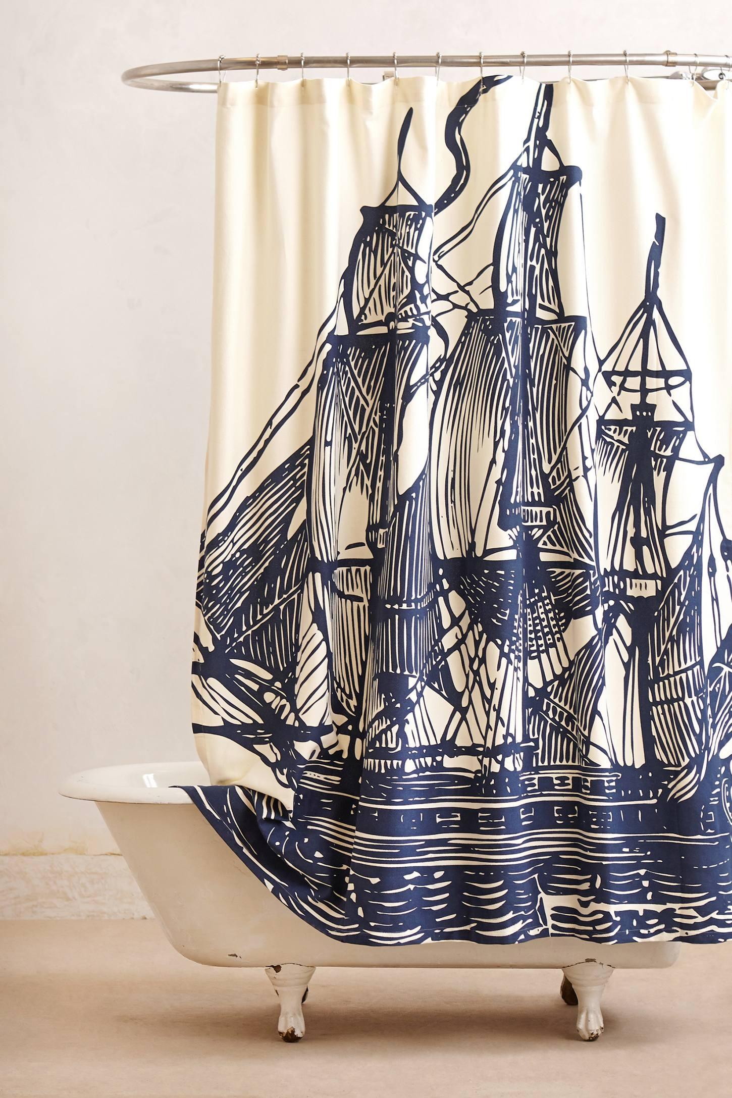 Charmant Nautical Shower Curtains
