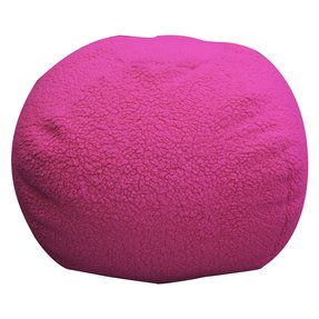 Newco kids sherpa hot pink bean bag