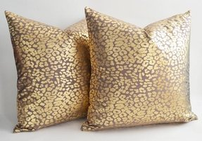 On sale set of 2 leopard decorative