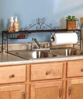 Kitchen counter shelf foter over the sink shelf bronze workwithnaturefo